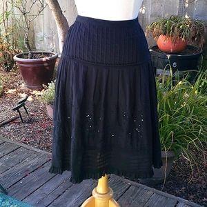 Morbid Threads Black Beaded Circle Skirt Size SM